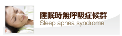 睡眠時無呼吸症候群 Sleep apnea syndrome